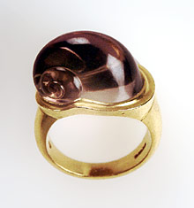 [a ring by Charlotte DeSyllas, not exhibited]
